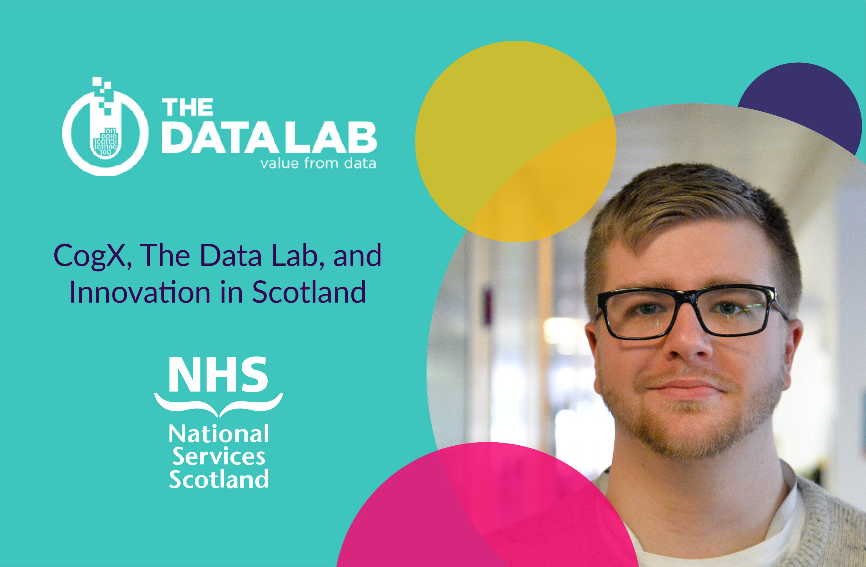 CogX, The Data Lab and Innovation in Scotland with NHS logo