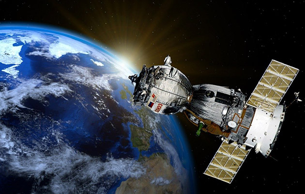 satellite in space - part of new digital tech tool that will gather data for remote working